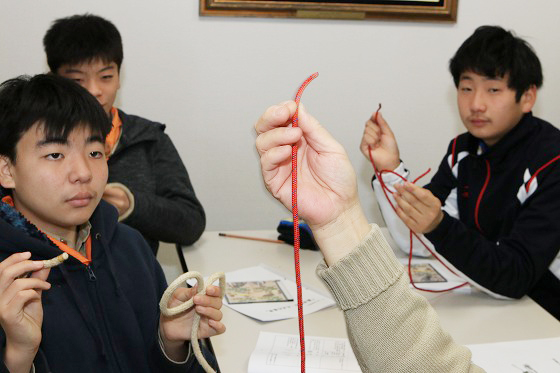 ロープワークの練習